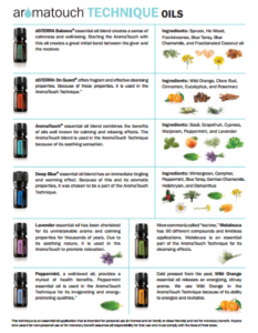 aroma touch oils